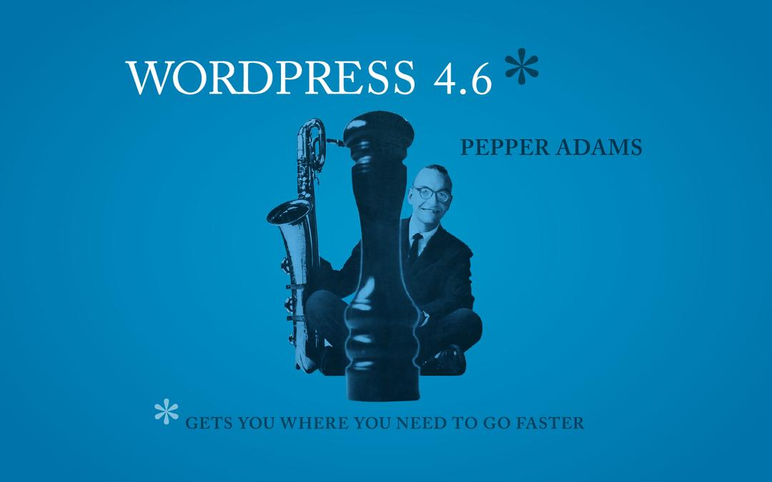 """WordPress Update 4.6 """"Pepper"""""""