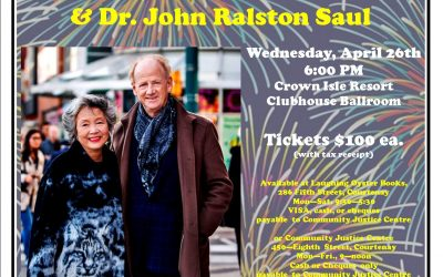 Community Justice Centre Campognolo Lecture Series with Rt. Hon. Adrienne Clarkson and Dr. John Ralston Saul