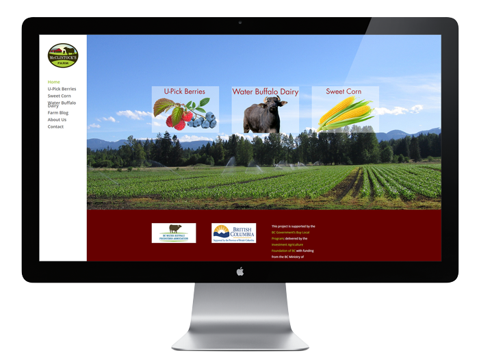 McClintock's Farm Website Screen Capture