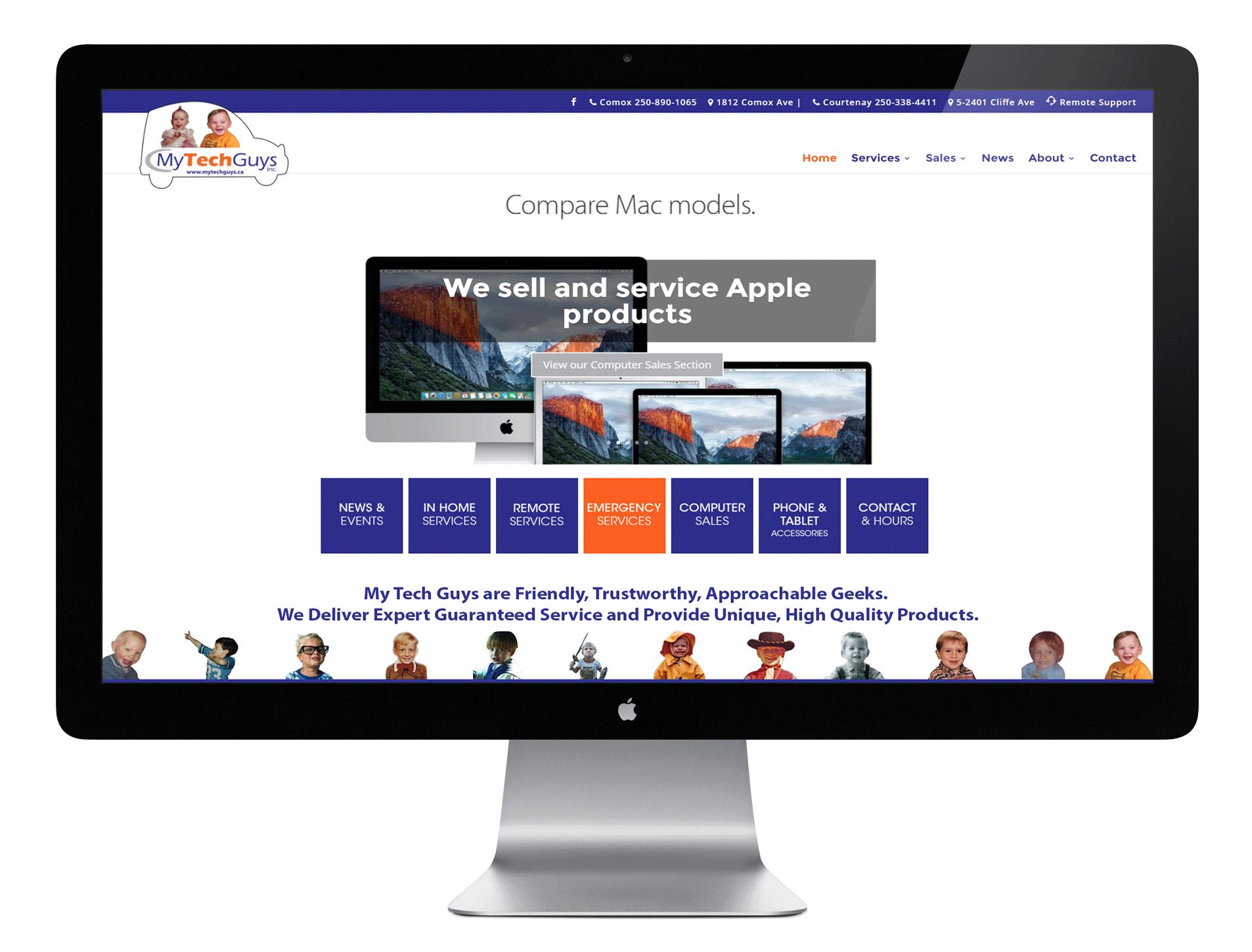 My Tech Guys Website Screen Capture