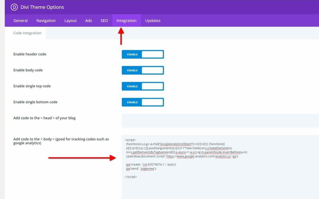 How to Display Google Analytics
