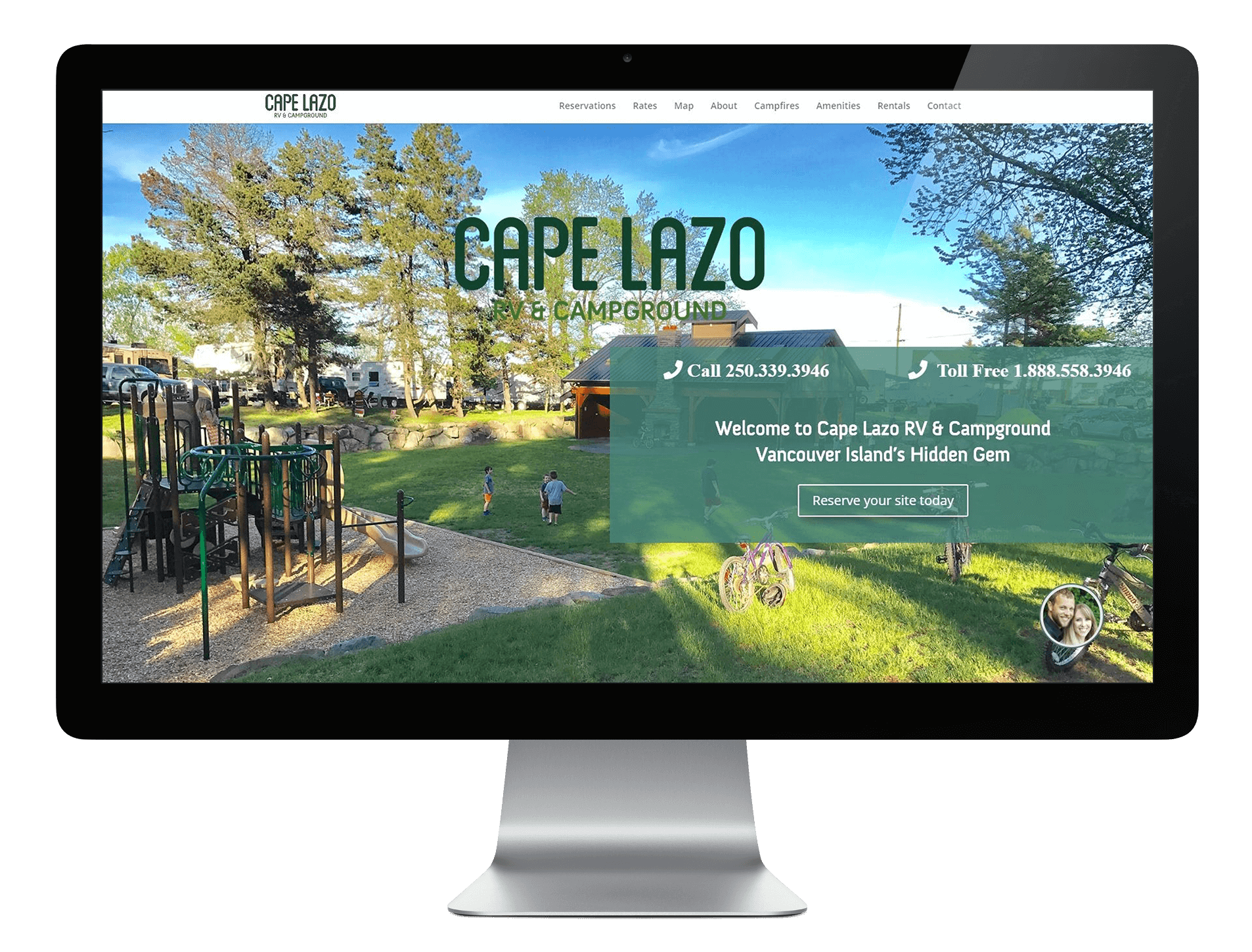 Cape Lazo RV & Campground Website Screen Capture